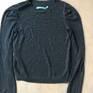Alice & Olivia black beaded sweater. XS